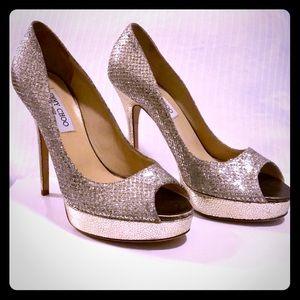 Jimmy Choo Luna Peep Toe Heels